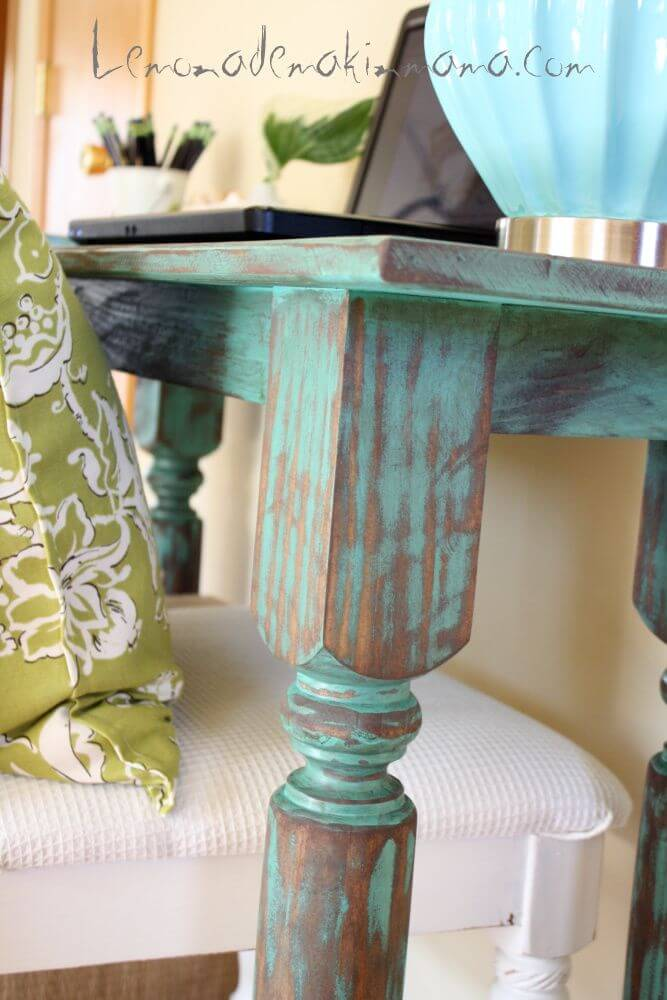 how to get a vintage look when painting furniture
