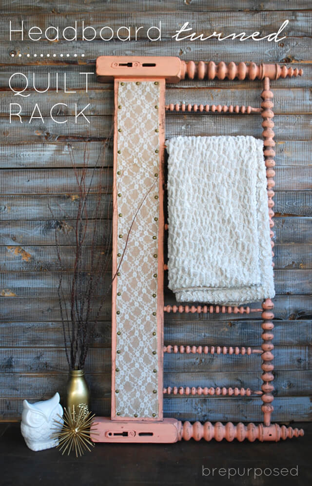Quilt Rack with a Vintage Feel
