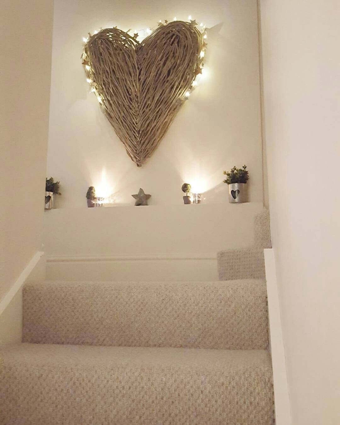Oversized Lighted Grapevine Heart Wreath