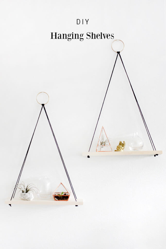 Simple Hanging Shelves with Triangle Shapes