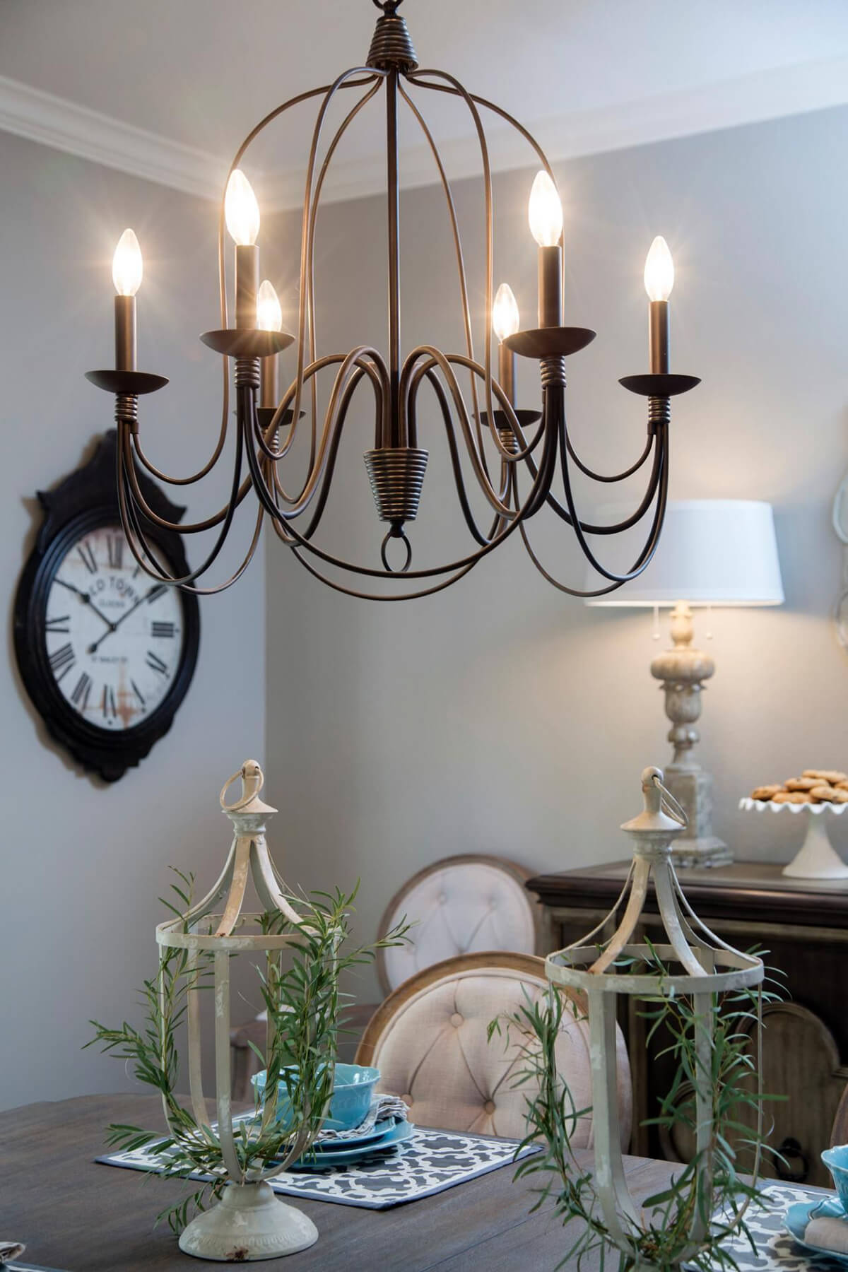 Elegant and Lovely Copper Chandelier