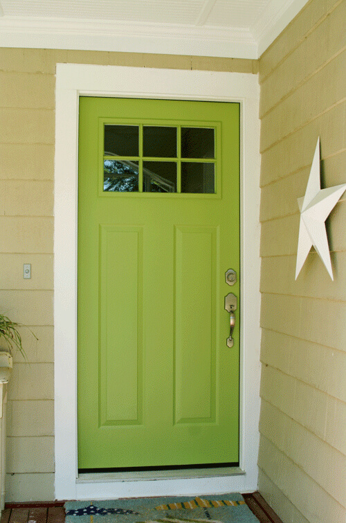 All Things Green Inspired Front Door