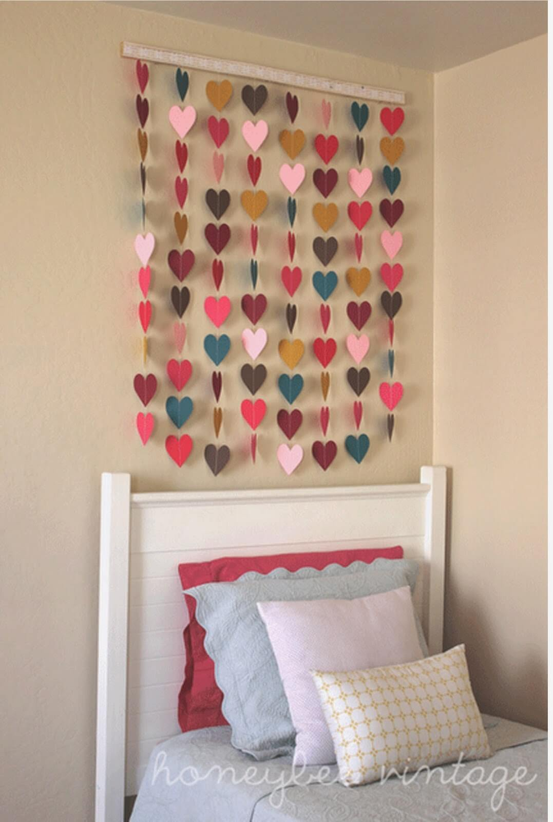 DIY Heart Cutout Wall Hanging