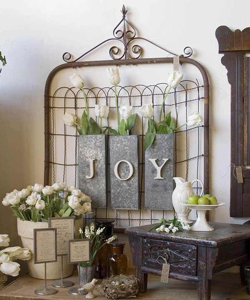 Rustic Hanger for Decorations or Flowers