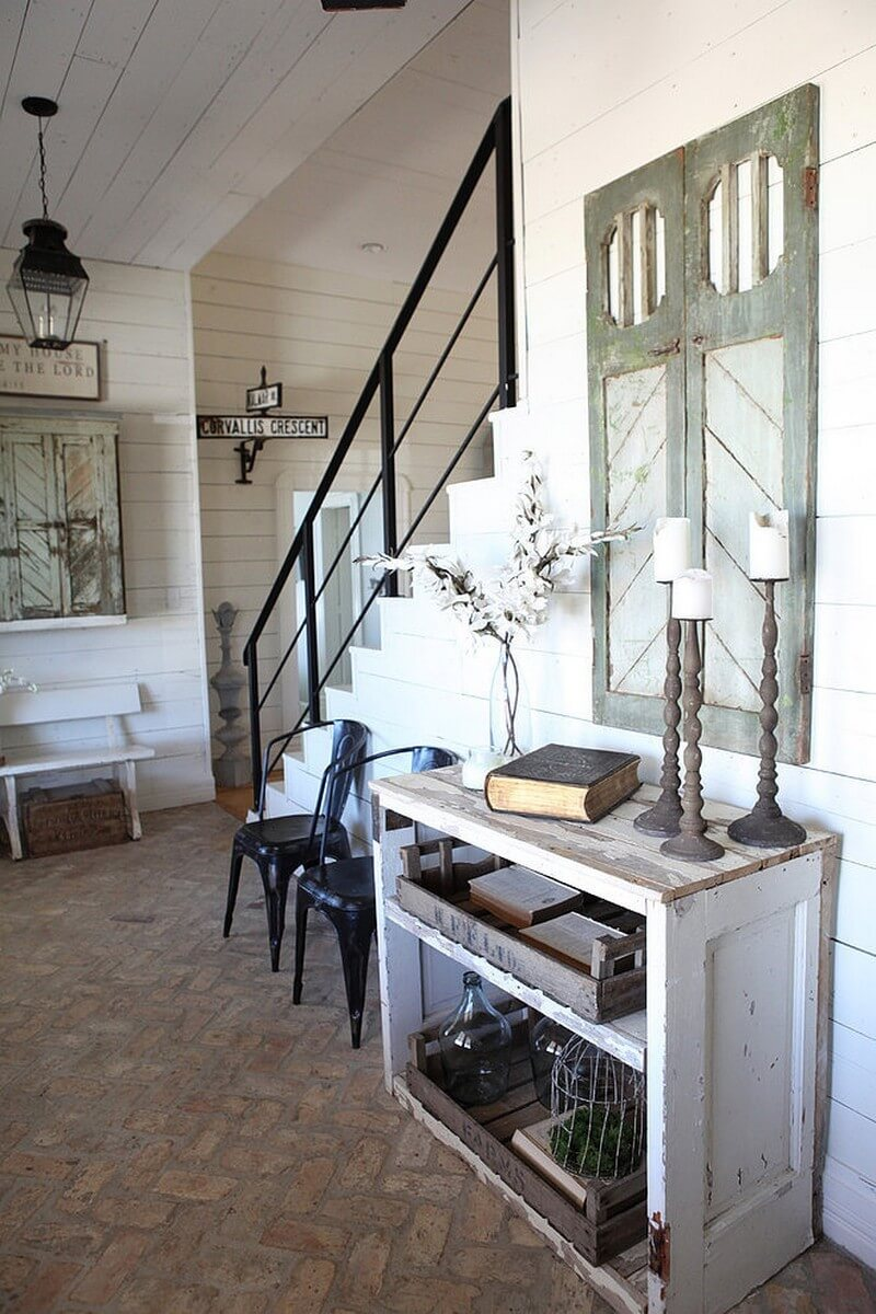 Farmhouse Meets Industrial Salvage Look