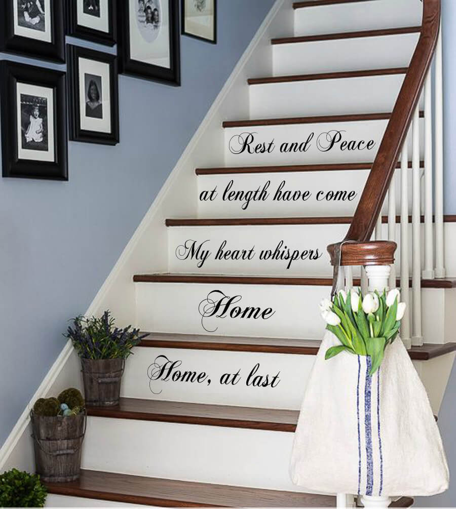 Charmant Home At Last Stair Runner Script