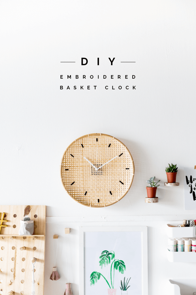 Beachy Basketweave Wall Clock Craft