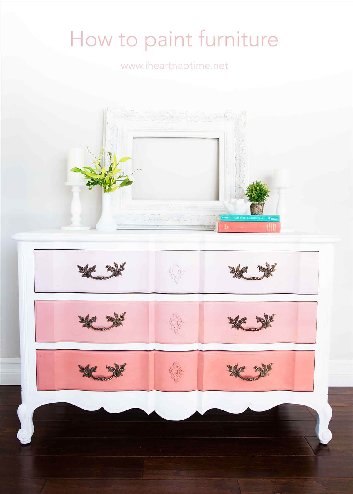 Pretty Pink Ombre Effect Dresser
