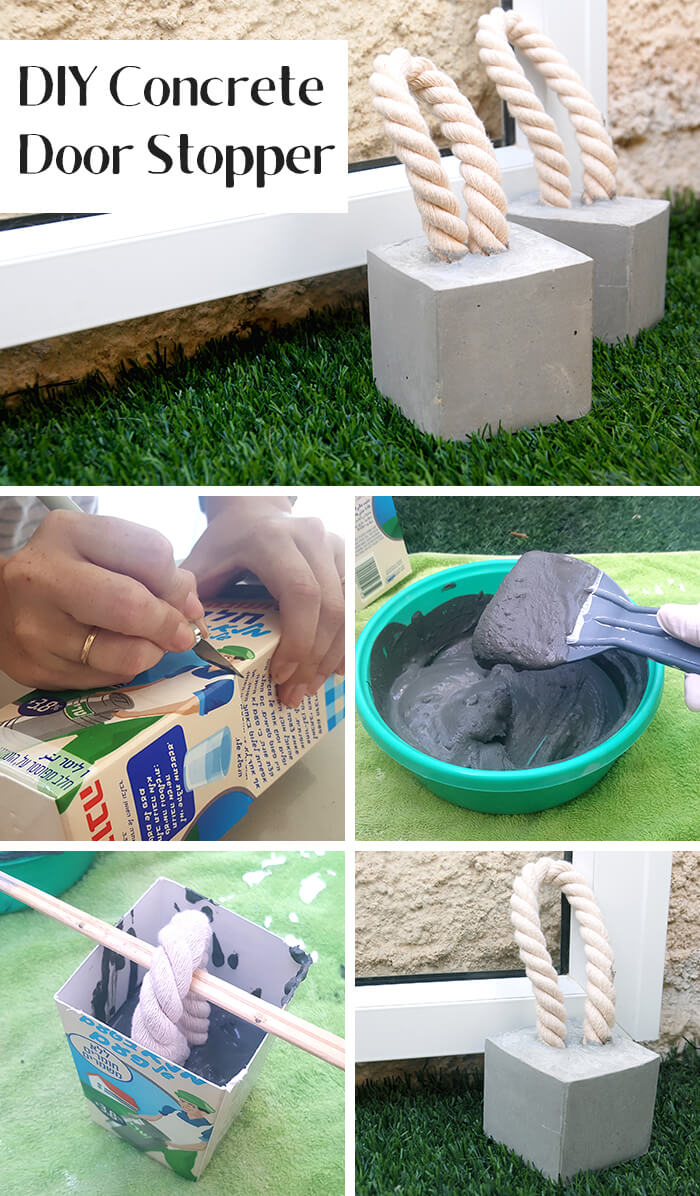Concrete Door Stopper Backyard DIY