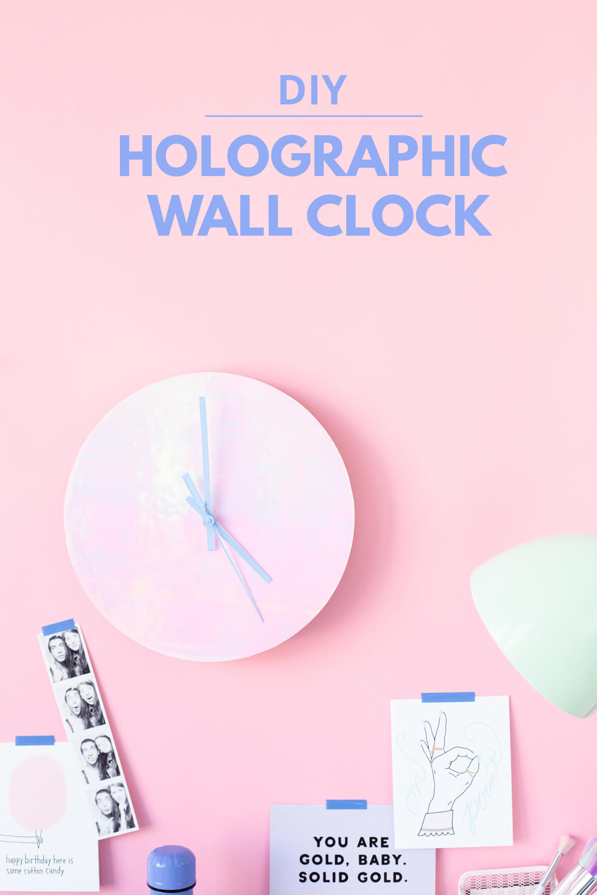 Cool Holograph Effect Wall-Mounted Clock