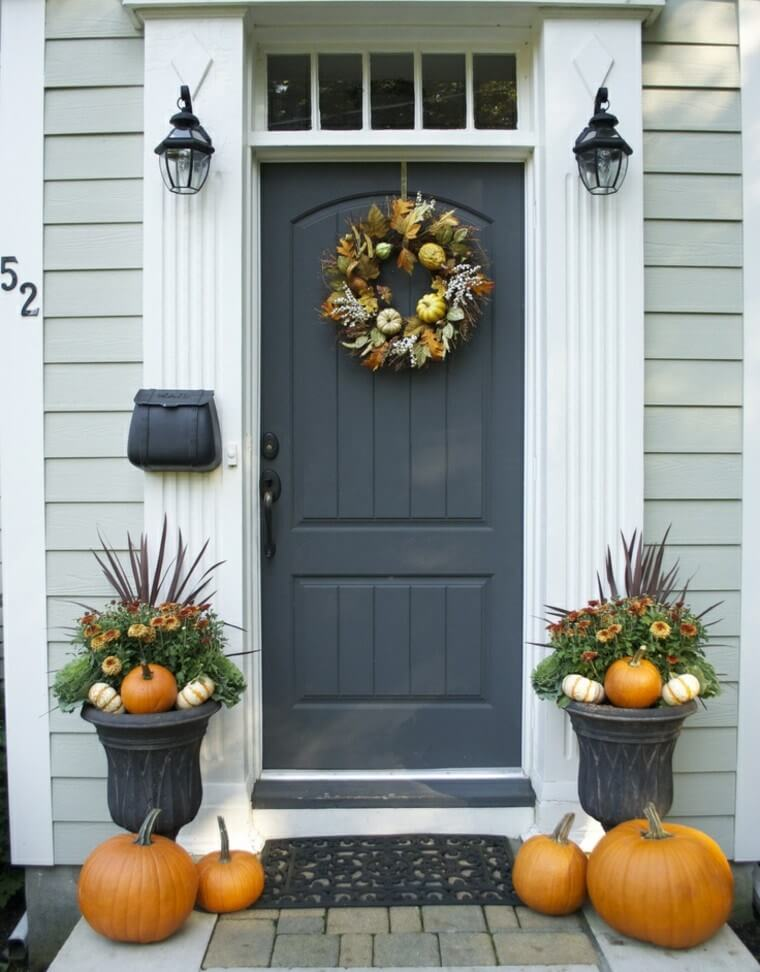 Autumn And Winter Inspired Front Door