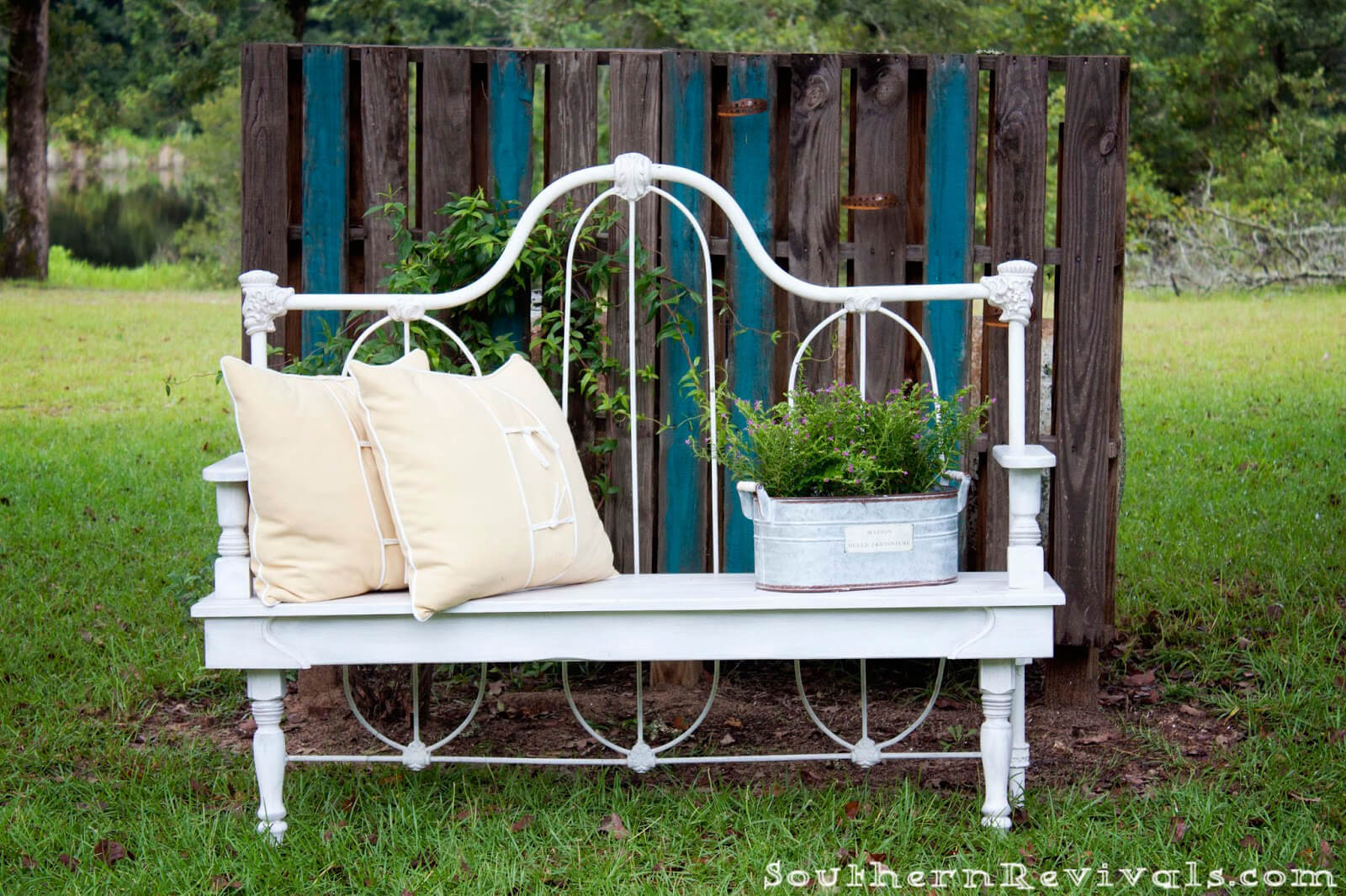 Wrought Iron Whimsical Outdoor Bench