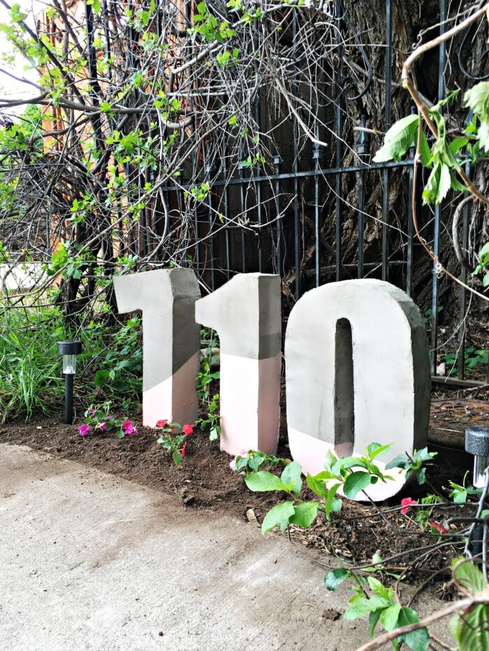 DIY Concrete Garden House Numbers
