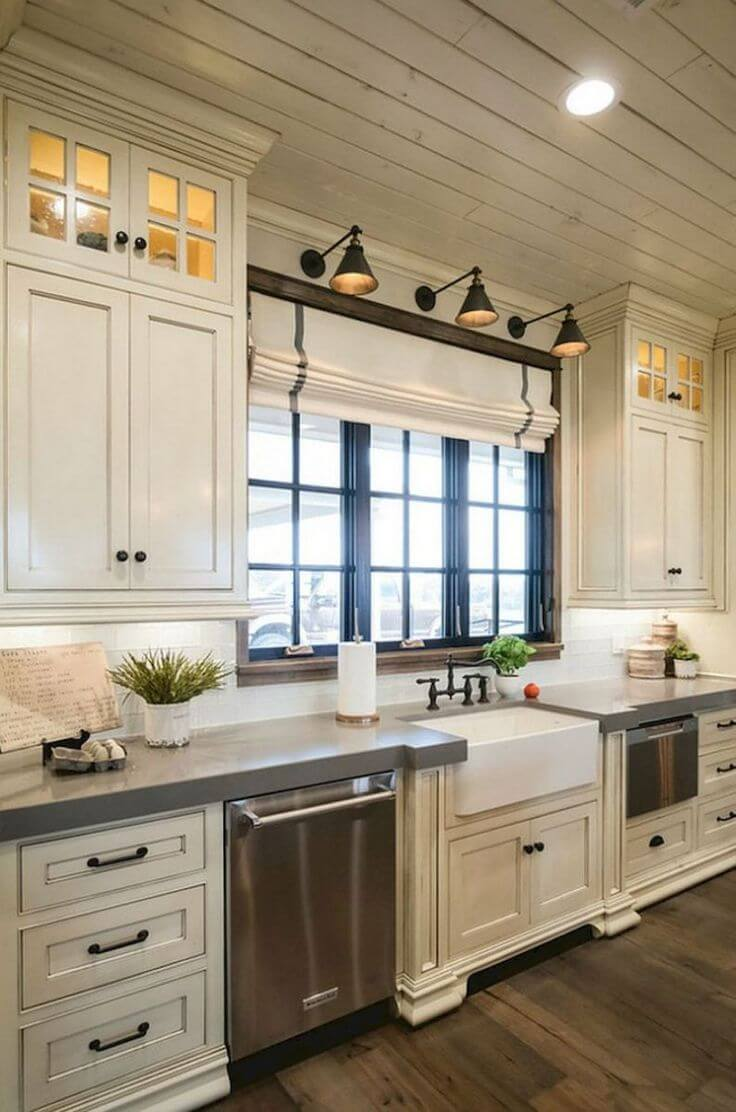 35 best farmhouse kitchen cabinet ideas and designs for 2019 - Modern rustic kitchen cabinets ...