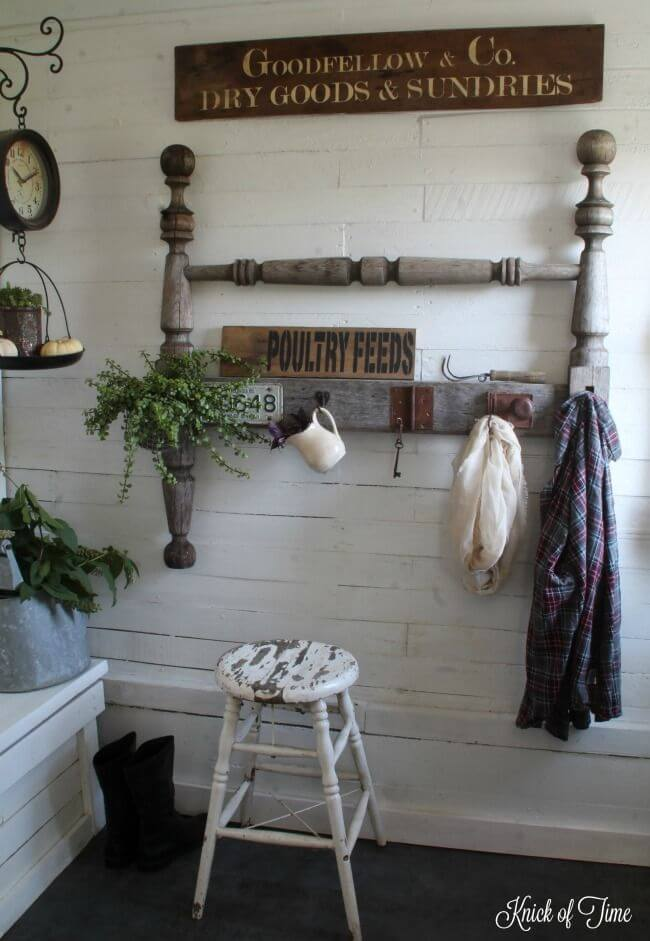 Farm Style Mudroom Coat Hanger