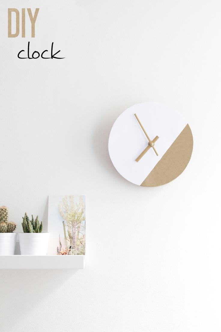 Two Tone Minimalist Clock Face