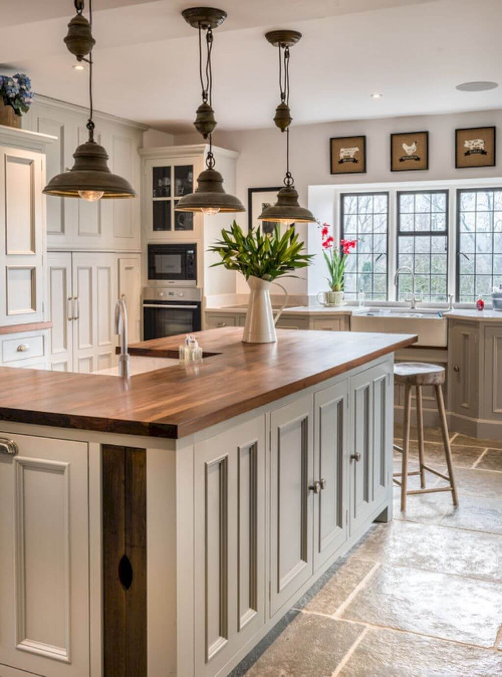 Khaki Tan Modern Farmhouse Cabinets