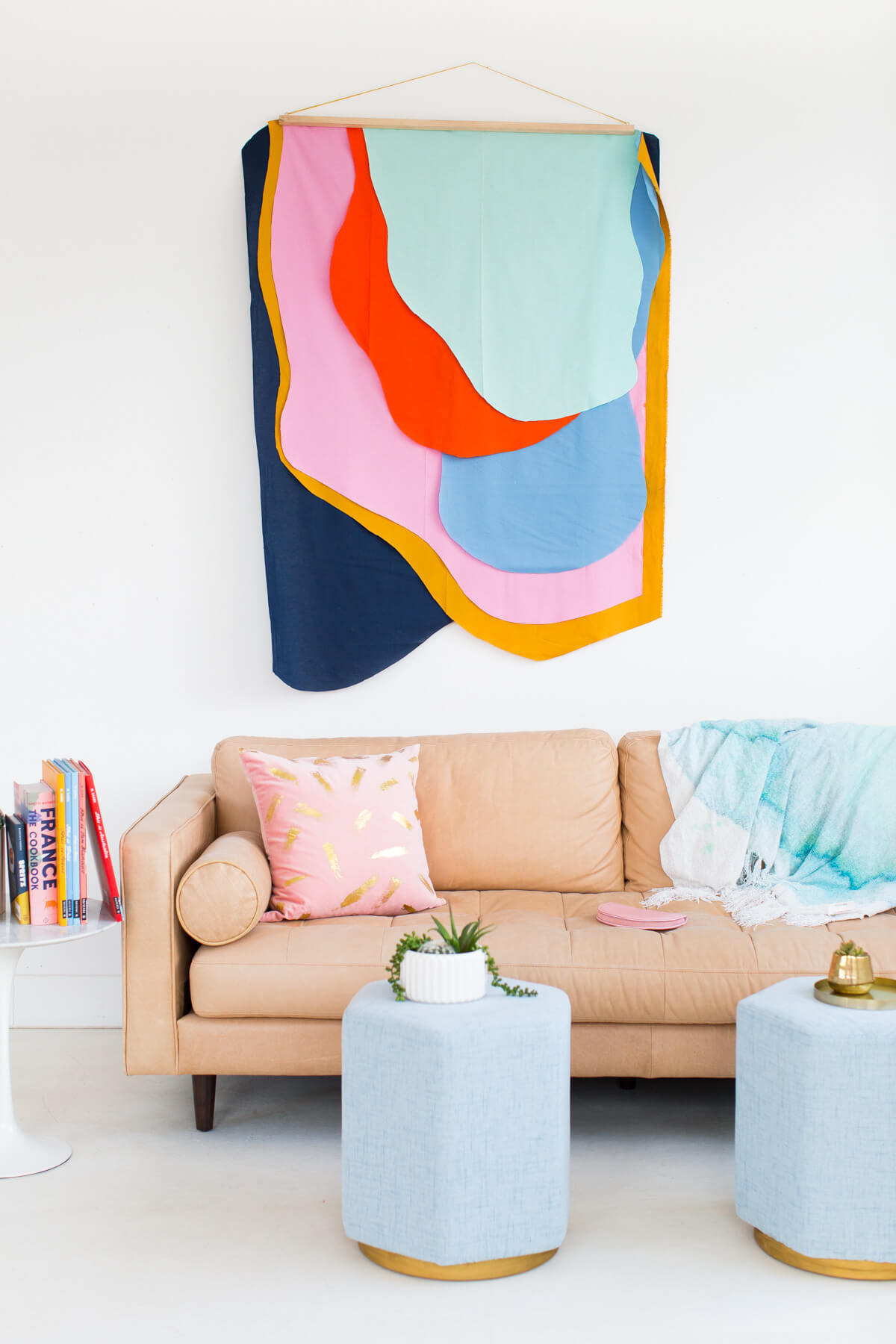 Modern art copy fabric wall hanging