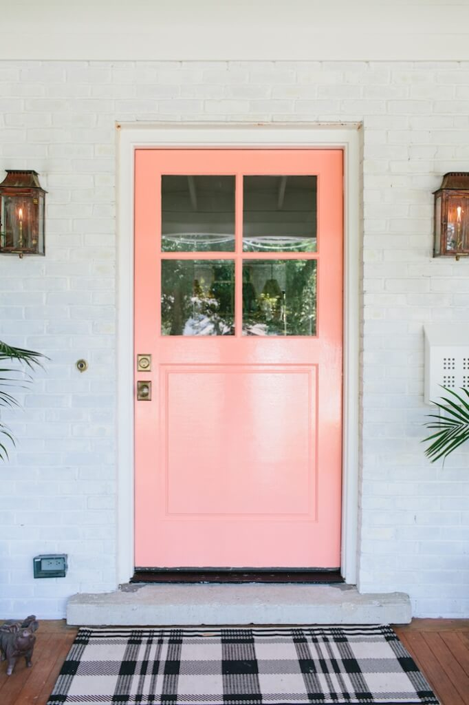 Oh So Peachy Pastel Front Door