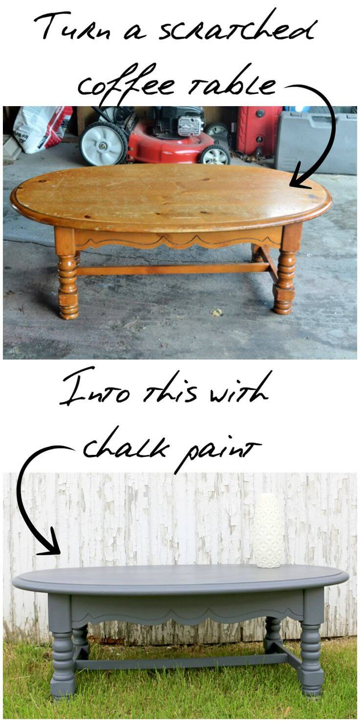 Cover Scratches With Chalk Paint