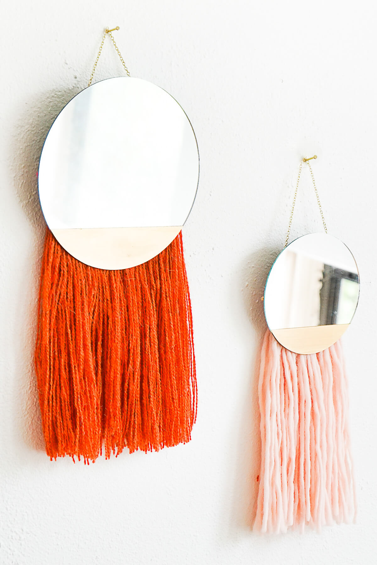 Mirror and String Wall Décor Tassels