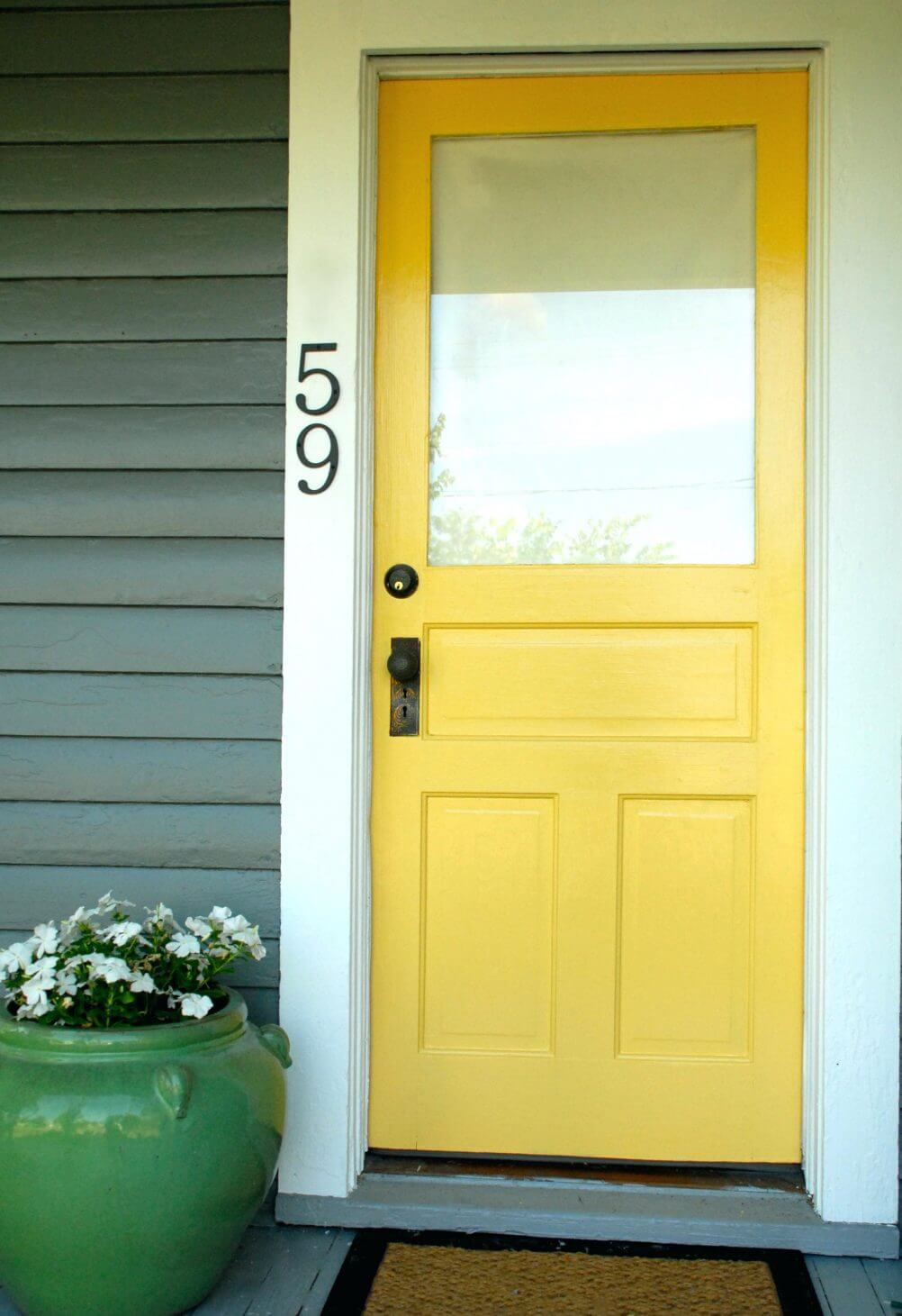 Big, Bright And Yellow Front Door