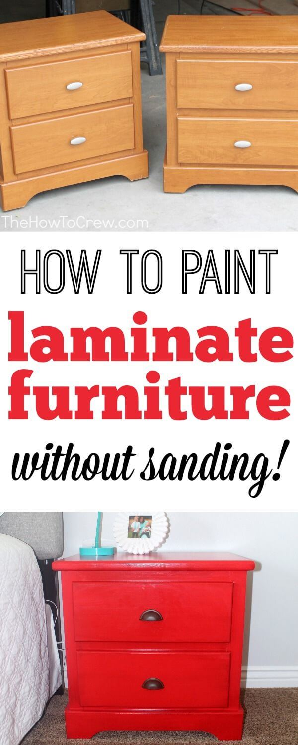 Repaint Laminate without All the Sanding