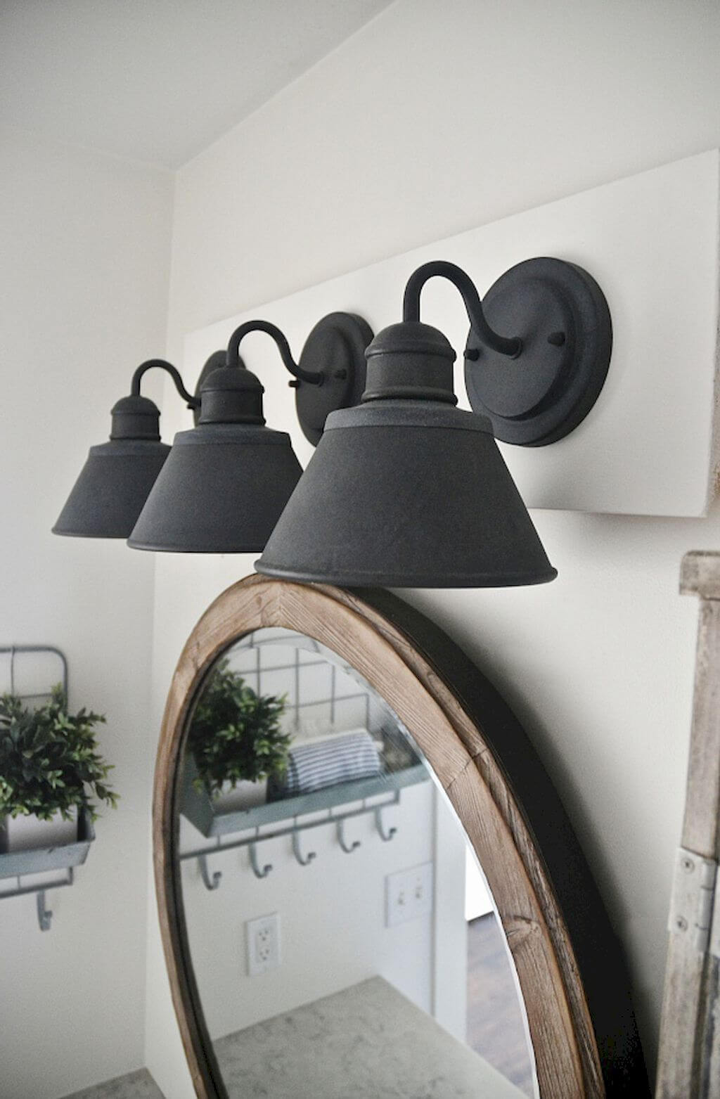 Matte Black Gooseneck Light Post Bathroom Fixture