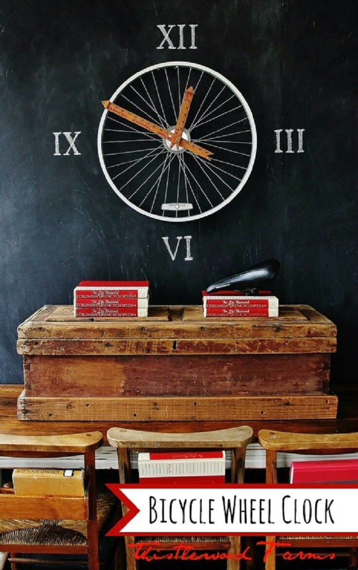 Bespoke Bicycle Wheel Chalkboard Craft