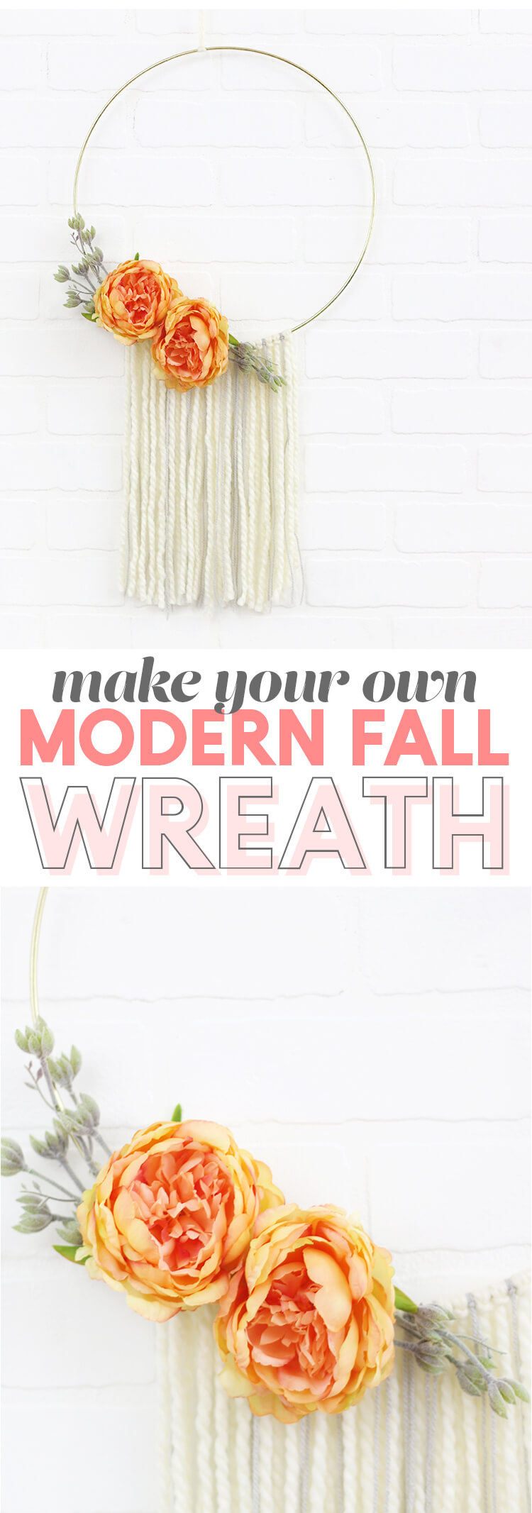 Round Floral Wreath and Tassel Wall Décor