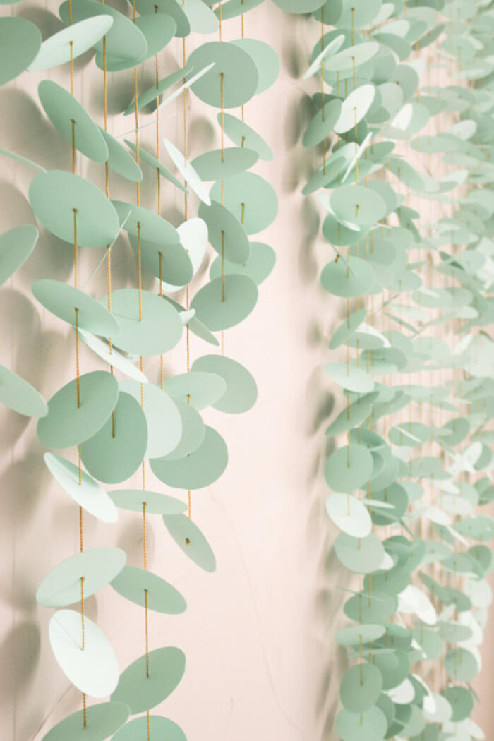 Mint Green Paper Disc Wall Hanging