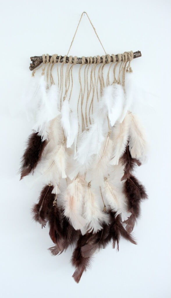 Tribal Feather and Twig Wall Hanging