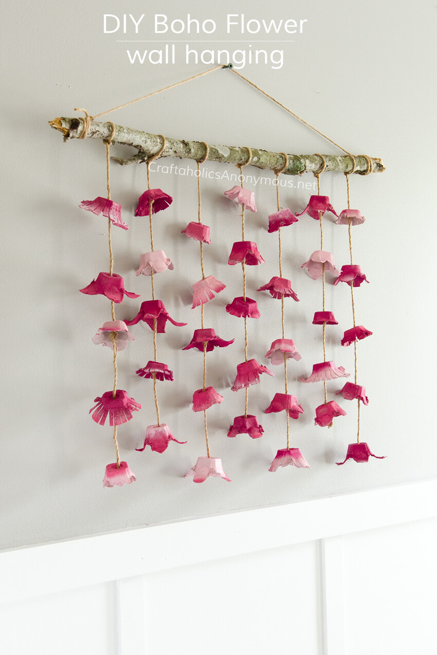 Bohemian Floral and Twig Wall Decor