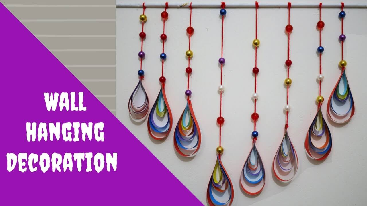 Bead and String Wall Hanging