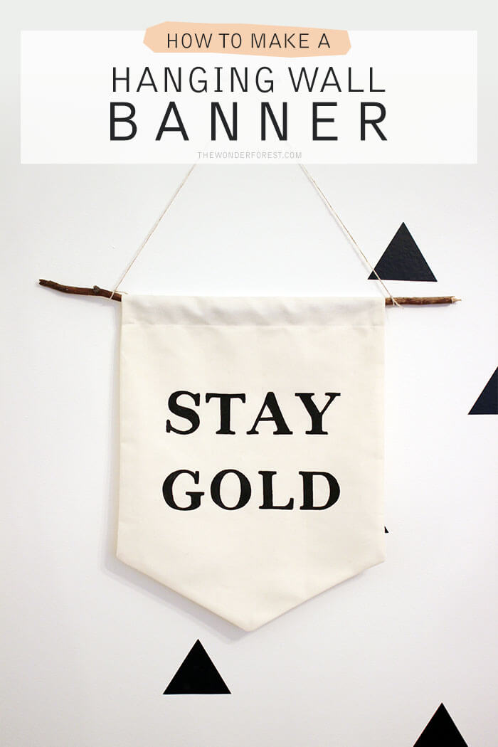 DIY Banner Wall Hanging Decor