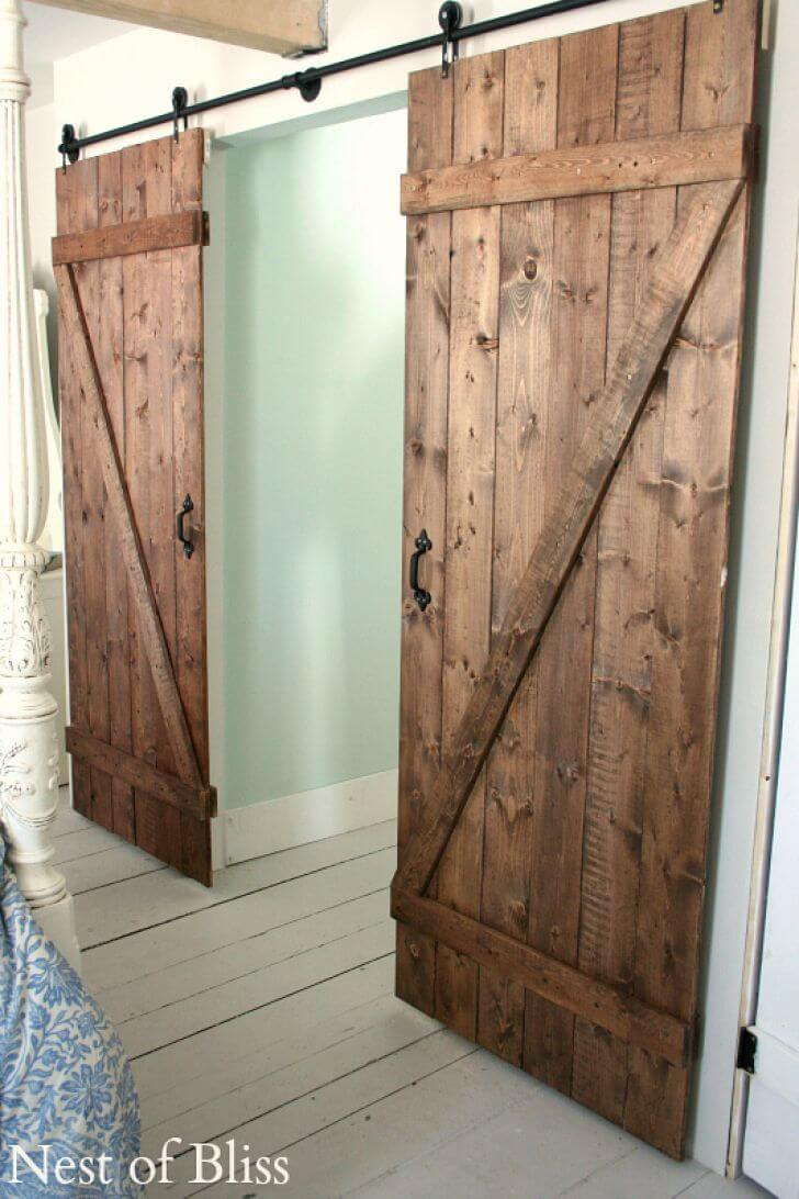 Bi-Parting Double Sliding Barn Door