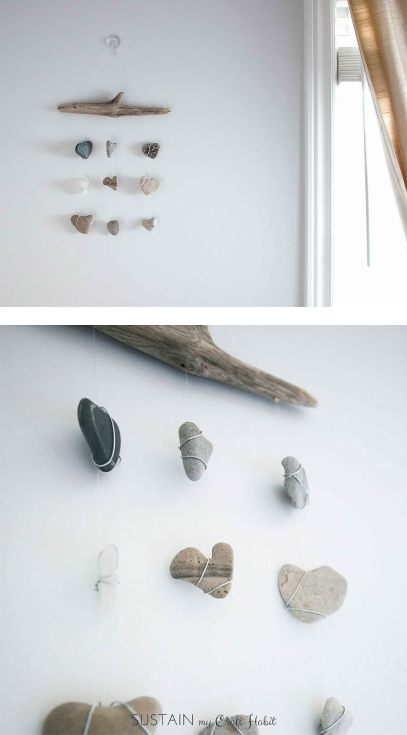 Simple and Mini Rock Wall Hanging