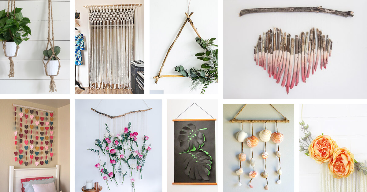 37 Best DIY Wall Hanging Ideas and Designs for 2020