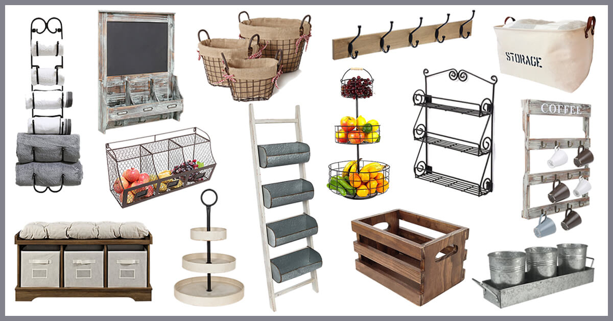 Beau The Best Farmhouse Storage And Organization Items To Bring ...