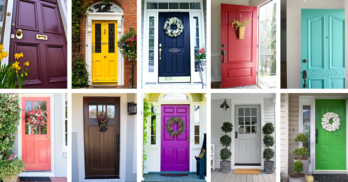 30 Front Door Color Ideas To Add Personality Your Outdoor Area