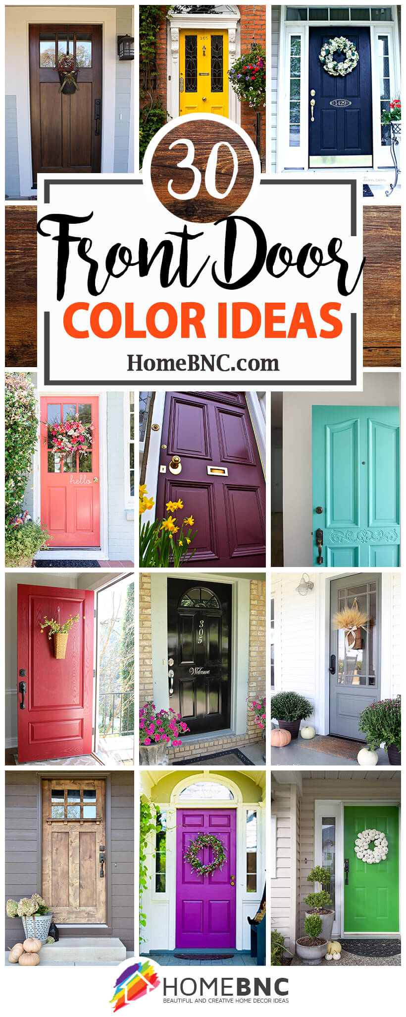 Attirant 30 Amazing Front Door Color Ideas For A Cute And Kitschy Home