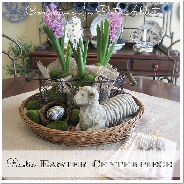 1. Nested Baskets With Flowers And Decorative Eggs
