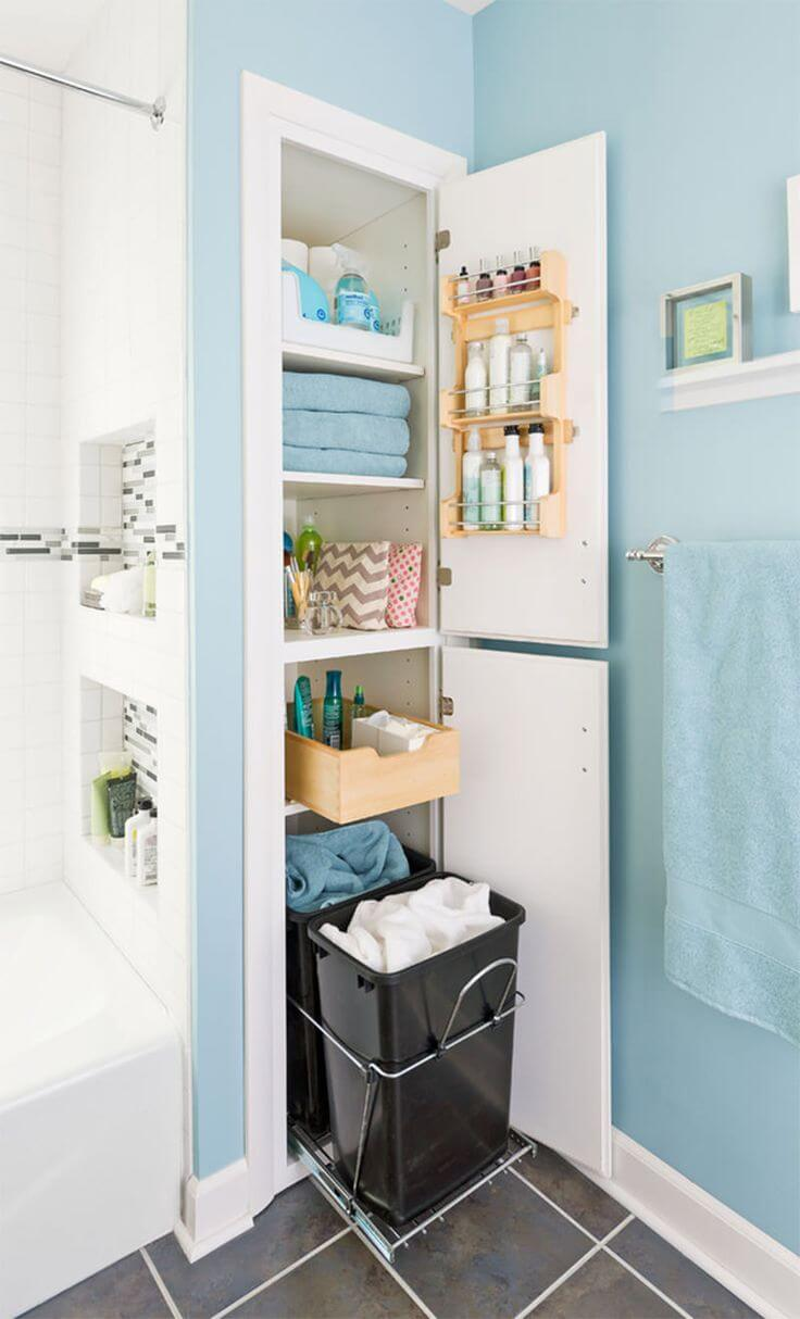 25 best built in bathroom shelf and storage ideas for 2018 for Best bathroom storage