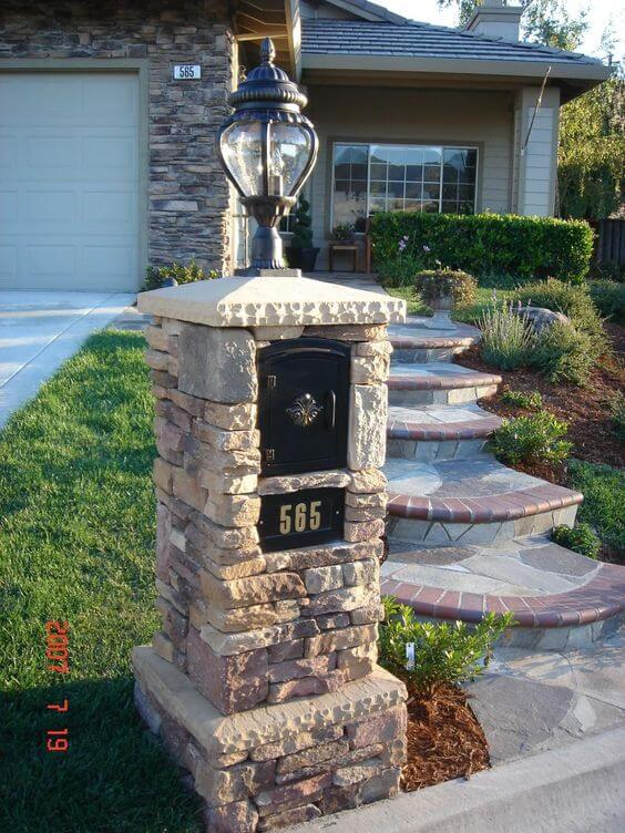 29 best mailbox ideas and designs for 2018 Mailbox Post with Solar Light Solar Mailbox Replacement Parts