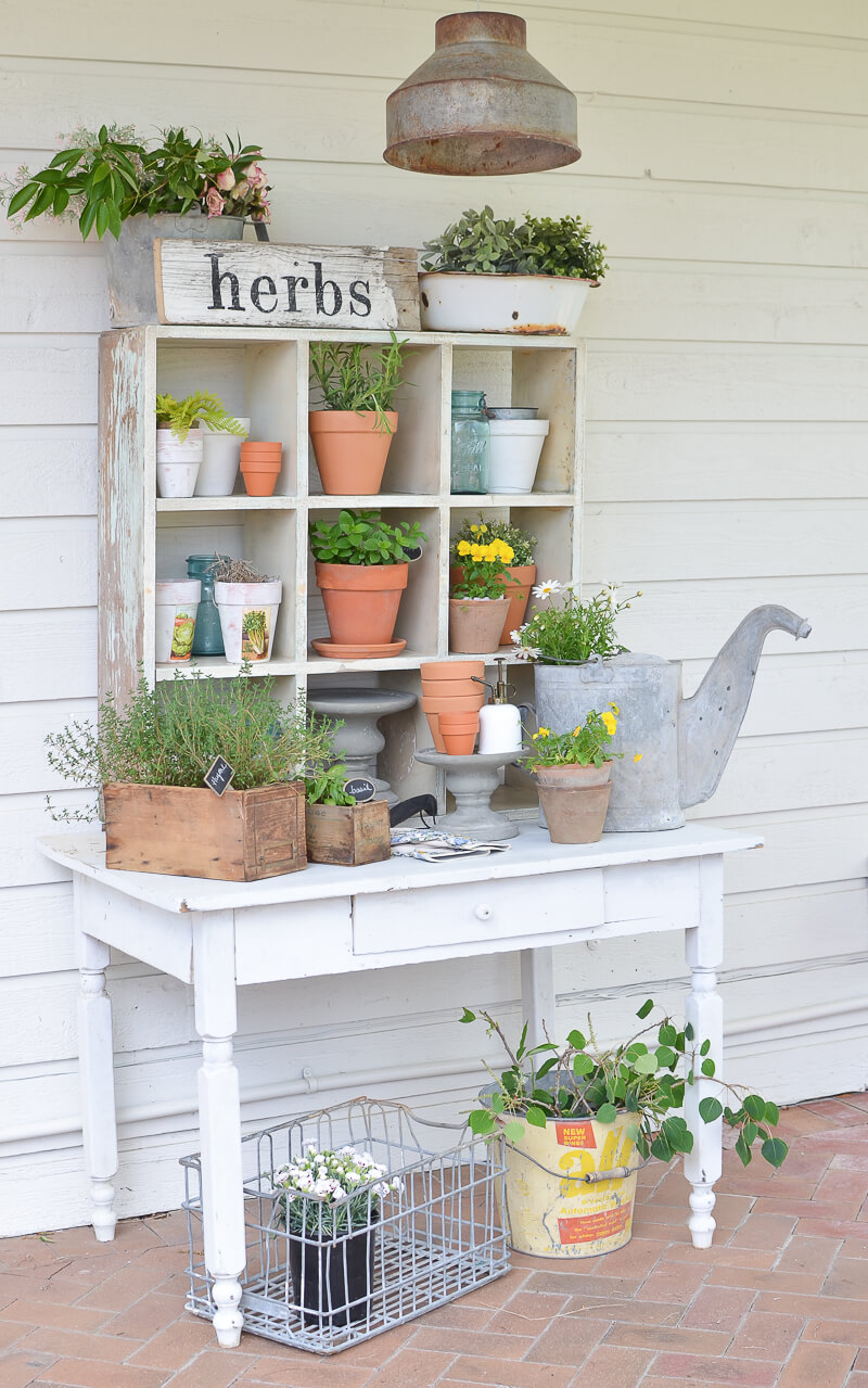 with potting garden bench tuesday ideas ten free plans building