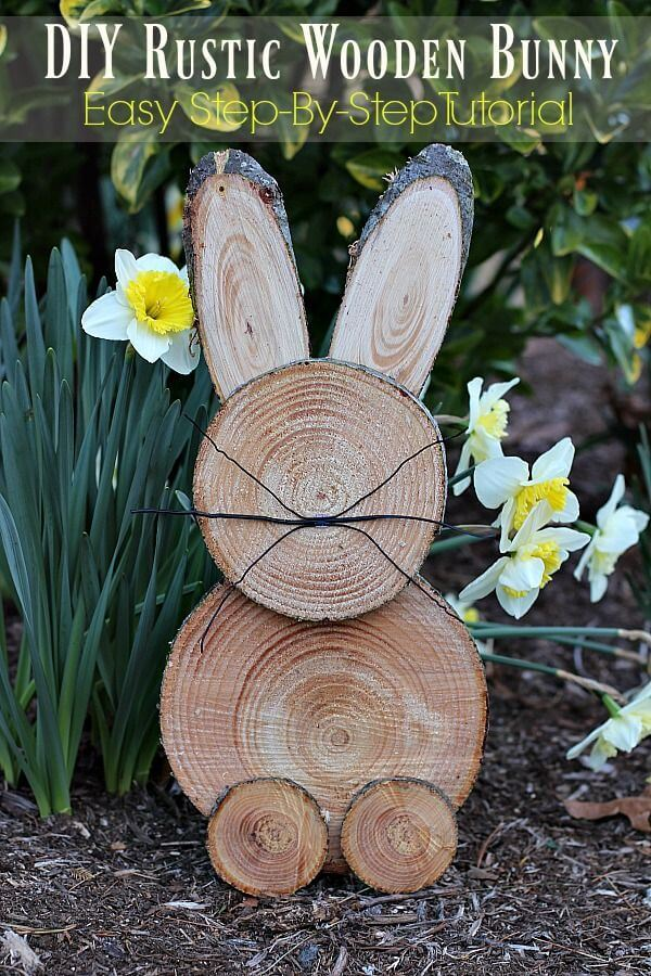 Wood Cut Easter Bunny for the Garden