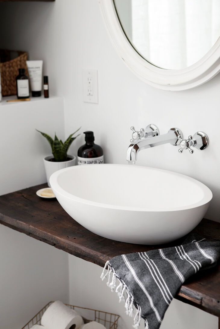 Modern Sink with a Statement Countertop