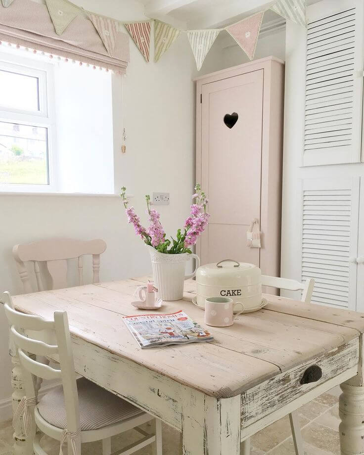 29 best shabby chic kitchen decor ideas and designs for 2019 - Salones estilo shabby chic ...