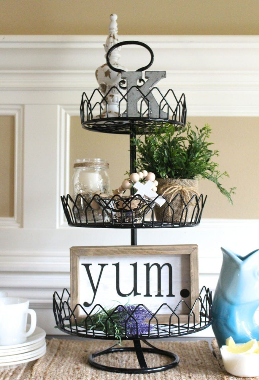 Decorative 3-tiered Wire Decor Display