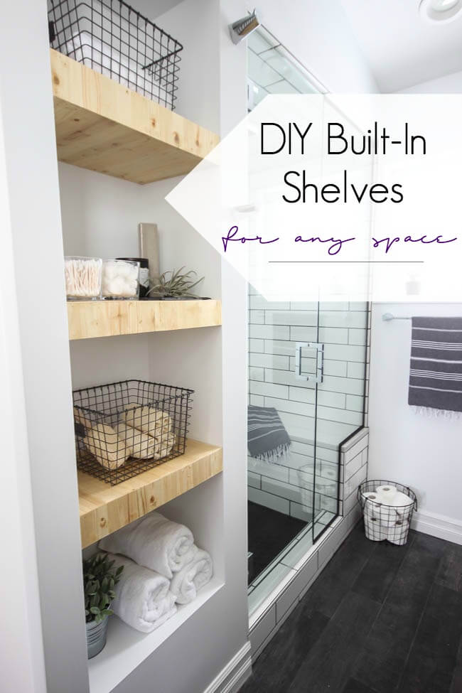 25 Best Built-in Bathroom Shelf And Storage Ideas For 2019
